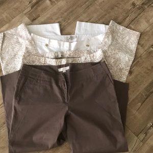 3 pair of Ann Taylor cotton capris